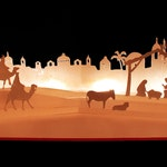 3D SVG Pop up Layered card 'Nativity' scene
