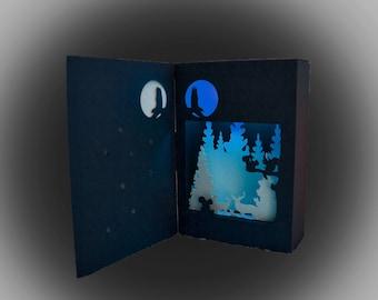 christmas collection bundle set of 6 shadow box lanterns etsy
