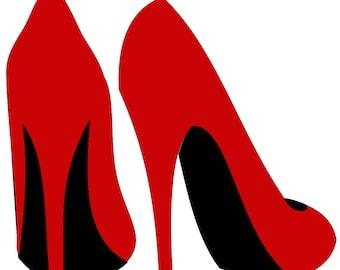 high heel template etsy