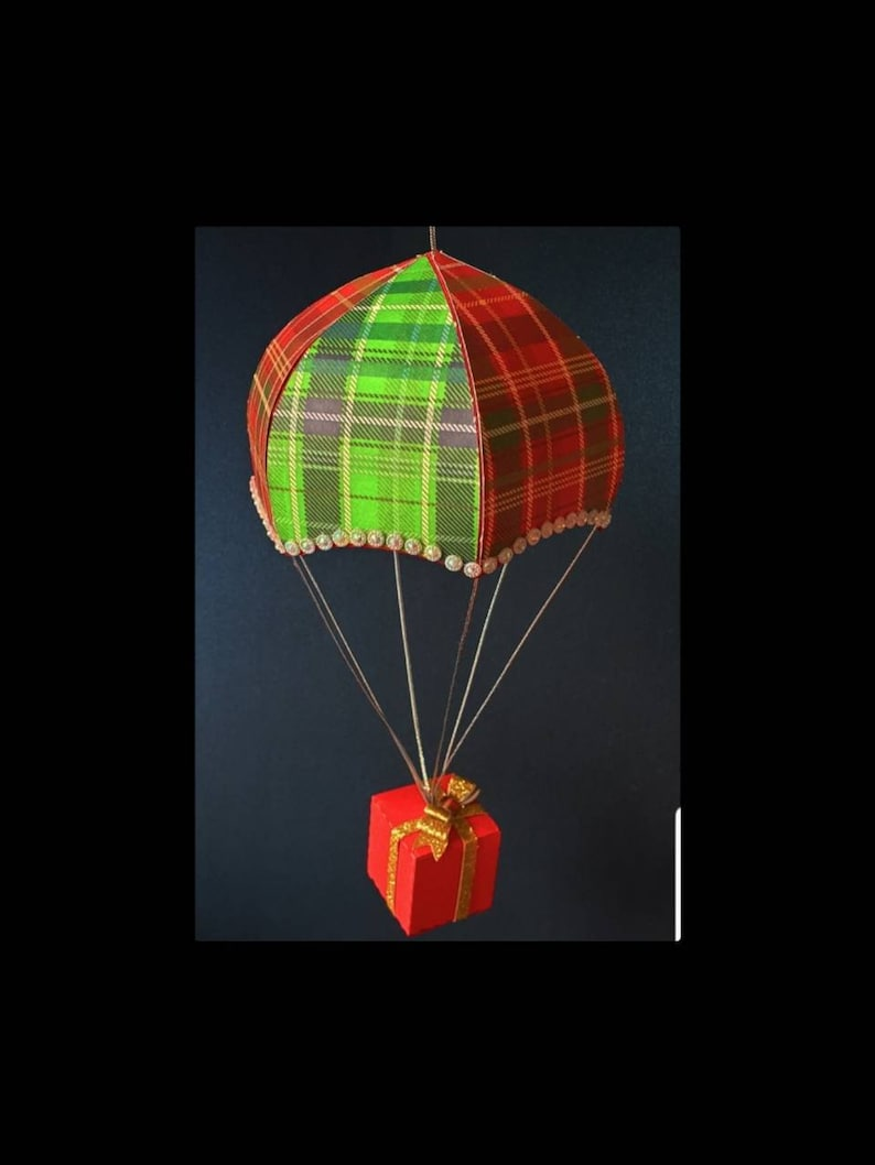 Parachute with hanging gift box DIGITAL download image 0