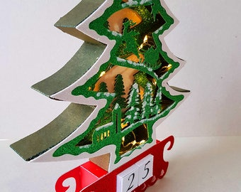 Illuminated Advent Calendar Tree Template