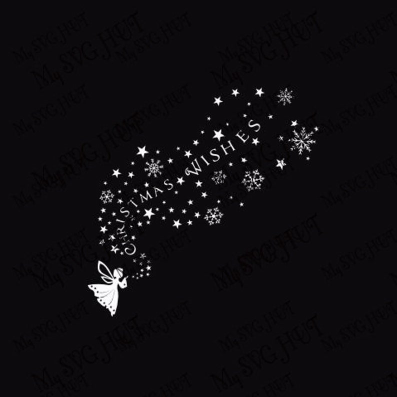 Christmas Wishes Window decoration or cutting board template