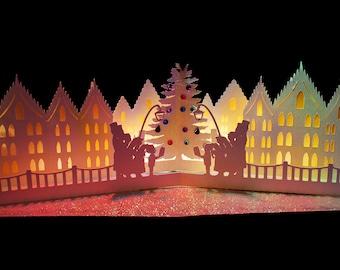 3D SVG Pop up card Christmas Carols