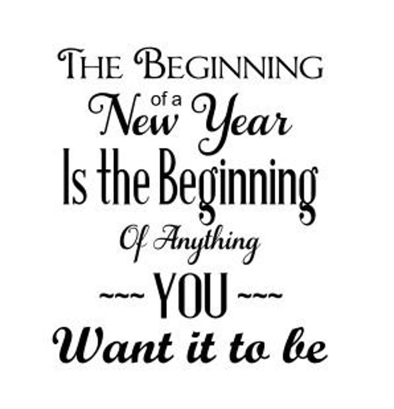 NEW YEAR beginning Window decoration or cutting board template image 0