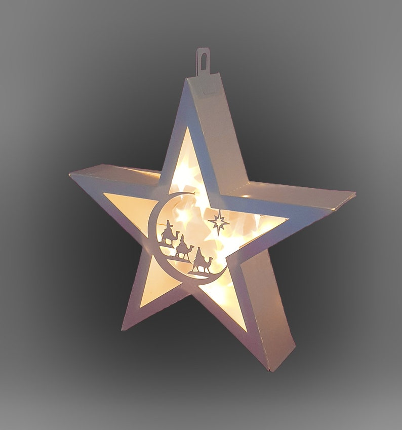 3D Star Hanging Star Lantern 3 Kings scene template image 0