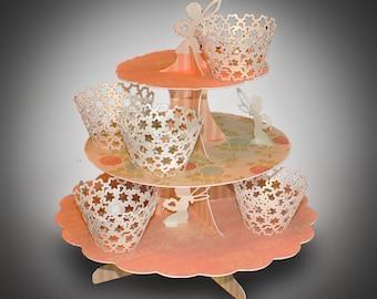 3D SVG  Cupcake Stand Fairy design DIGITAL download