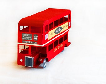 3D SVG London Bus DIGITAL download