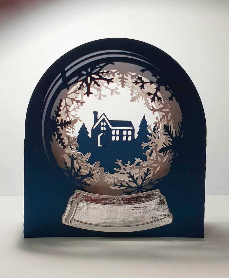 Snow Globe Snowy Cottage template image 0