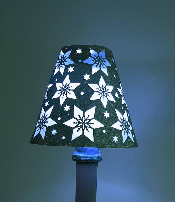 snowflake detail wine glass lampshade template etsy