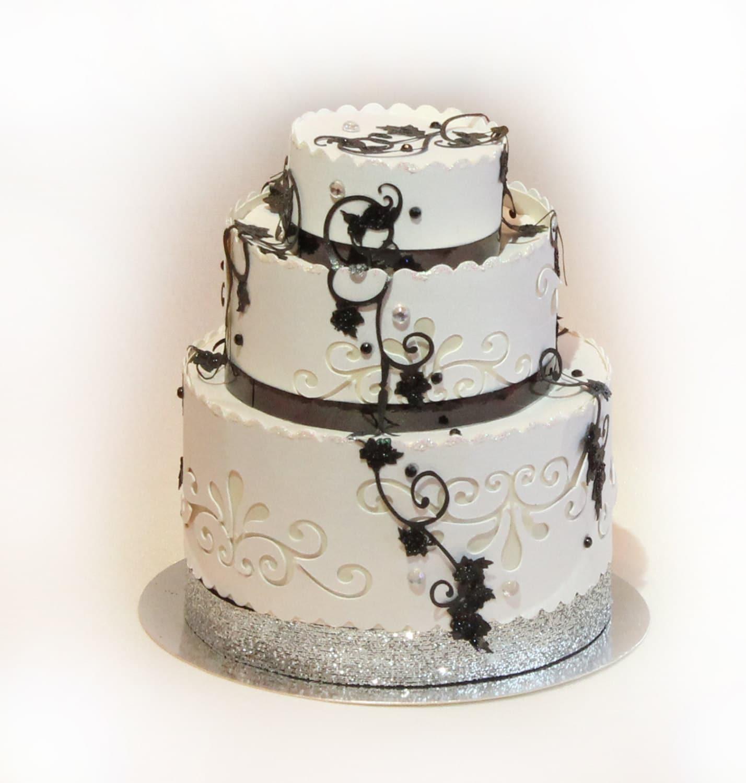3d Svg 3 Tier Wedding Cake Favor Box Digital Downlaod Etsy Pin Circuit Die Cut Machine On Pinterest