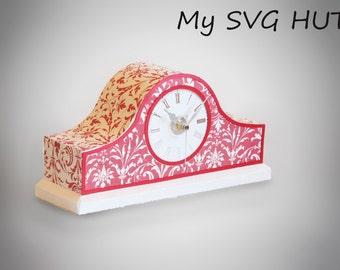 3D SVG Mantle Clock DIGITAL download