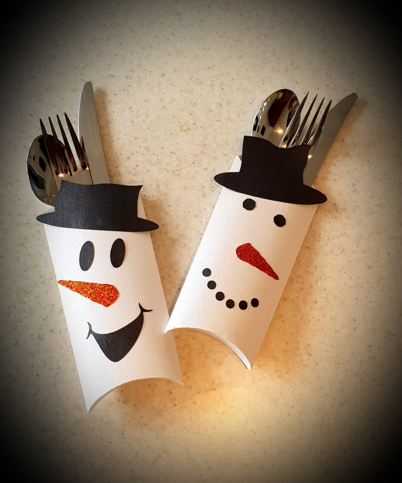 Snowman Cutlery holder DIGITAL Download image 0