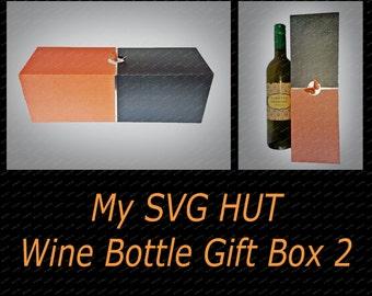 Wine Bottle Gift Box 2 DIGITAL download