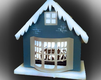 3D Christmas House One More Sleep template
