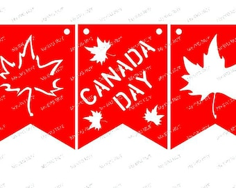 Canada Day Maple leaf Banner