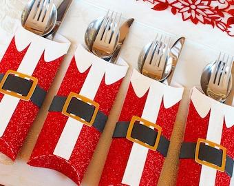 3D SVG PDF Santa Cutlery holder DIGITAL Download