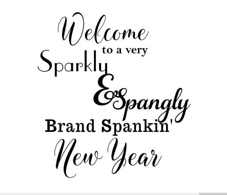 NEW YEAR welcome Window decoration or cutting board template image 0