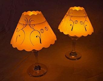 Swirl Pattern Wine glass lampshades SVG Digital download