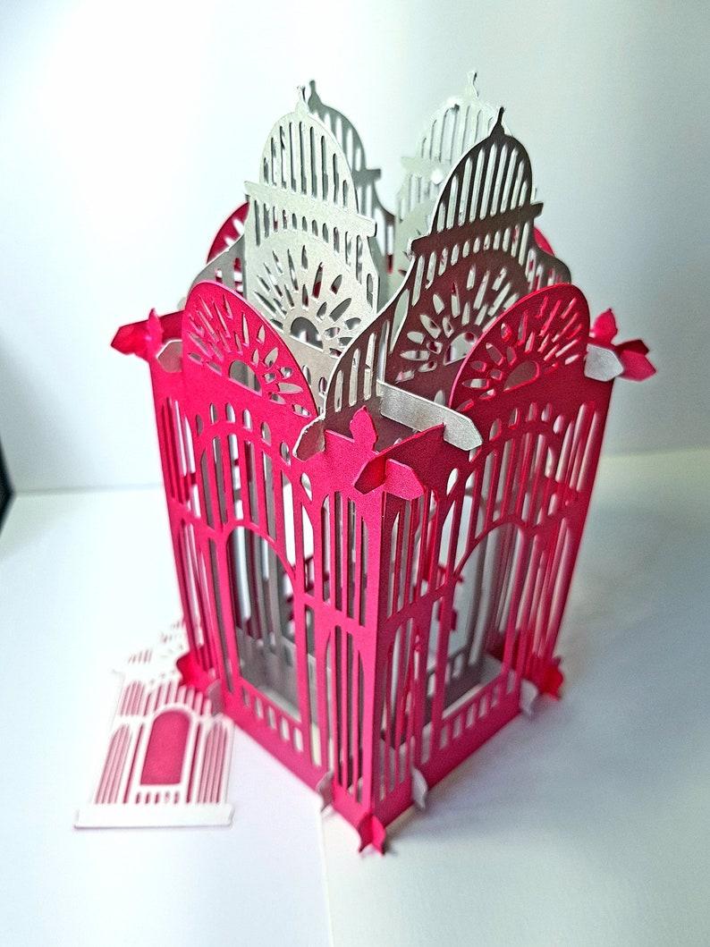 pliage boite carte ou lanterne style cage à oiseaux 1   etsy