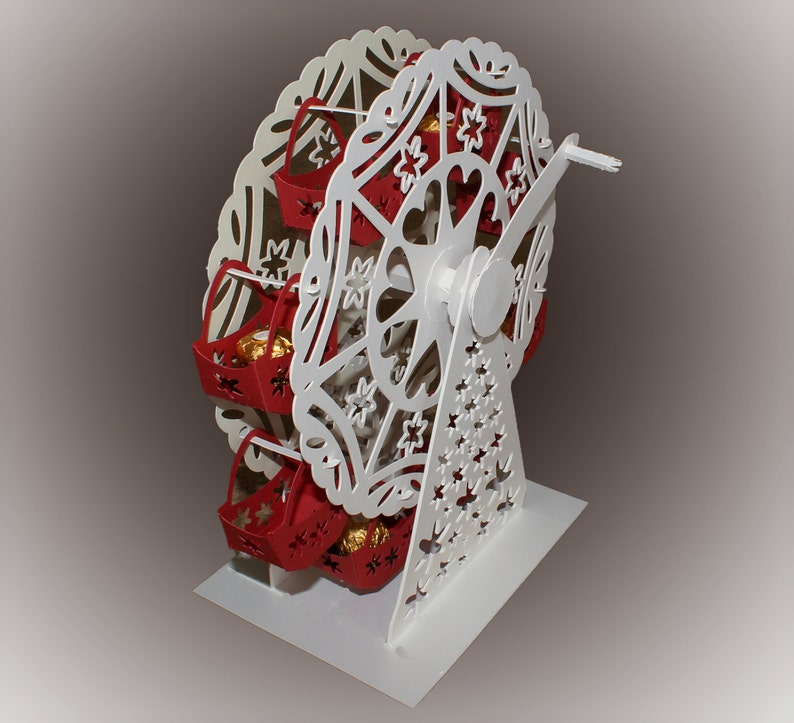3D SVG Turning Ferris wheel with treat baskets image 0