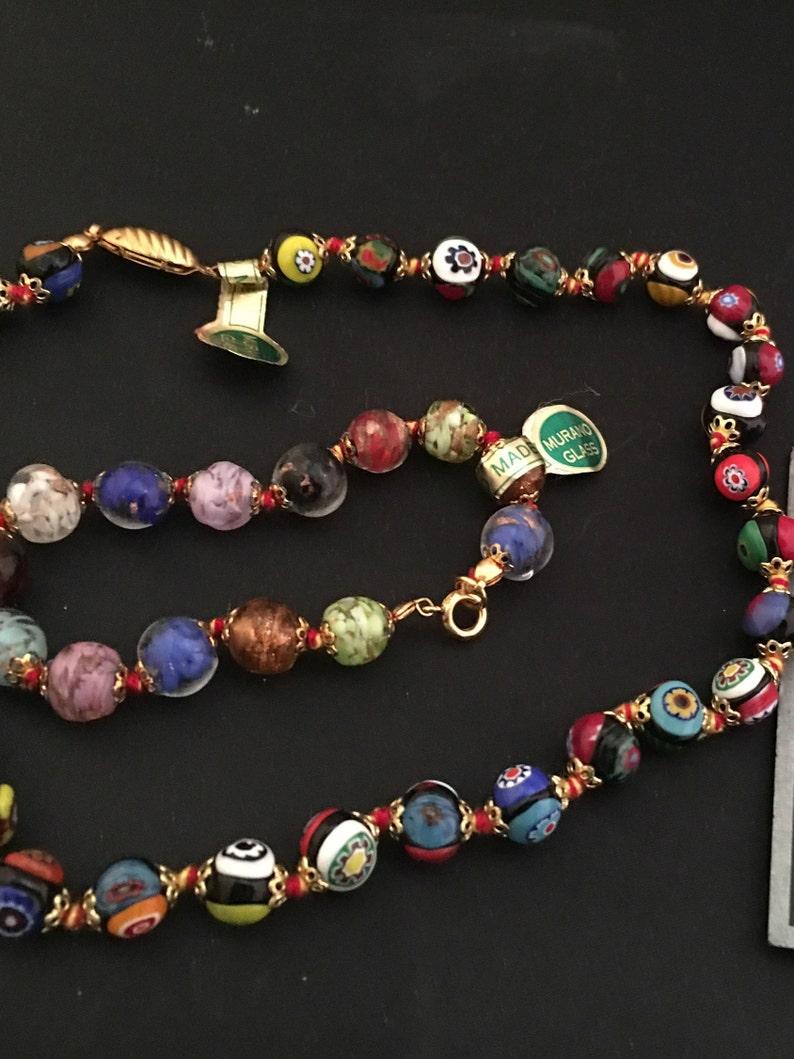 e72bbf9c4c6f Collar de abalorios de cristal de Murano hecho en Italia
