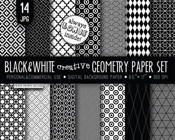 8 5 X 11 Black White Digital Paper 8 5 X 11 Print Wedding Etsy