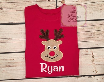 Personalized Boys Reindeer Shirt
