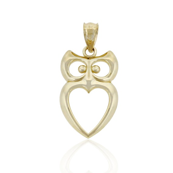10k Solid Gold Gold Owl Charm