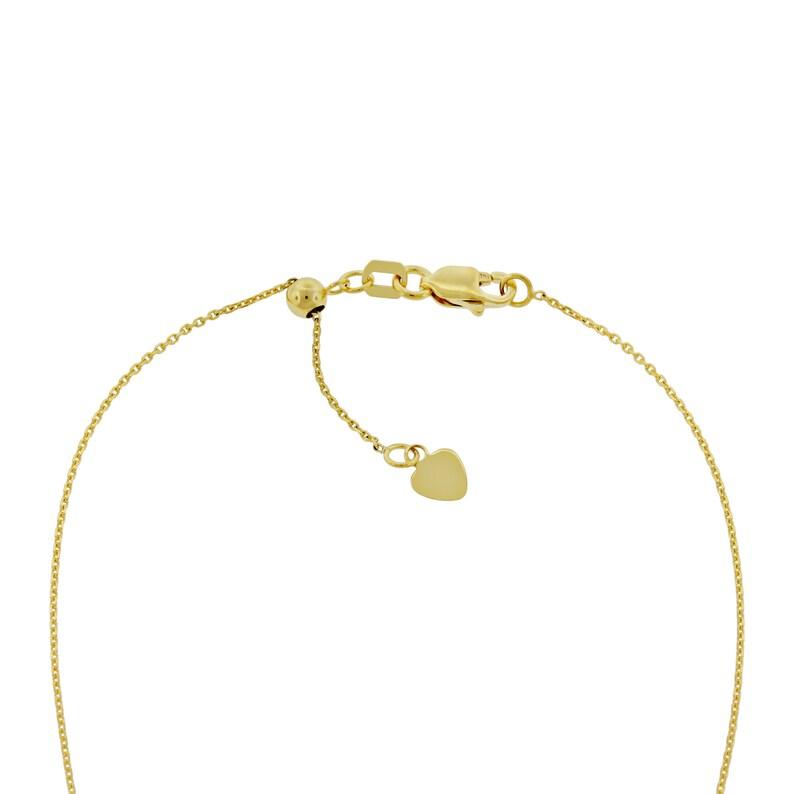 14 Karat Solid Gold Gold Script Loved Adjustable Necklace and Choker