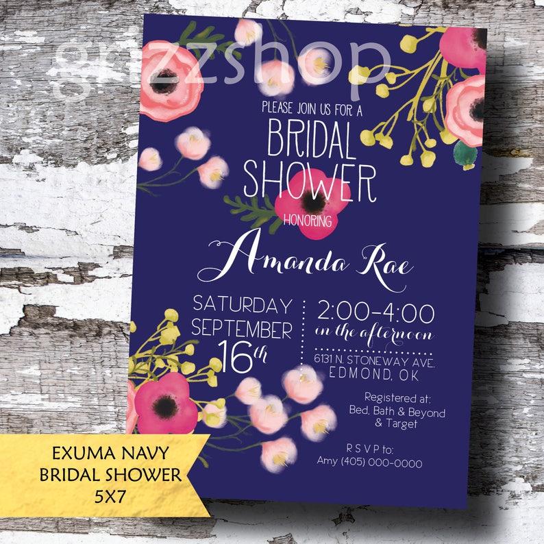 EXUMA Shower Invitation