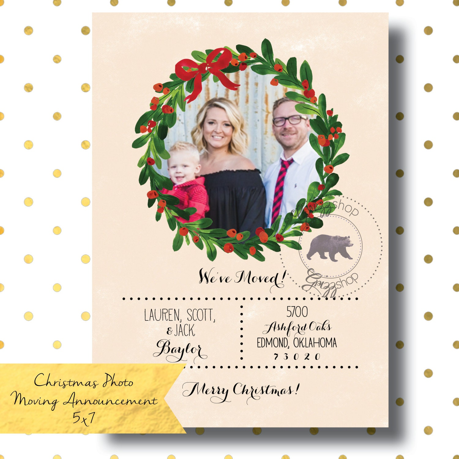 Christmas Photo Moving Announcement   Etsy