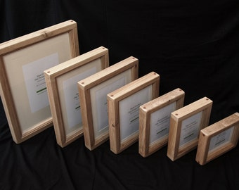 18 X 14 Chunky Oak Picture Frame Hand Crafted By Etsy