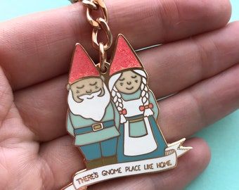 There s GNOME place like home Enamel Keyring Keychain 925cb8c648