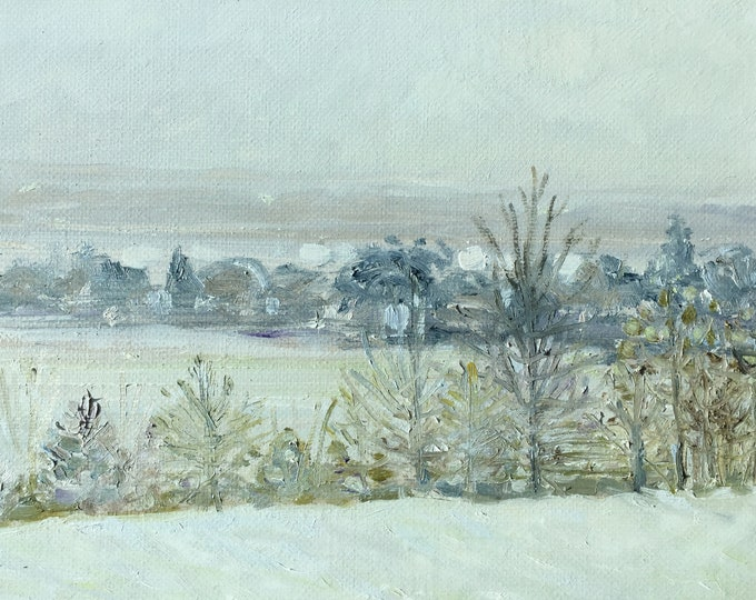 Snowy Haze over Little Traverse Bay