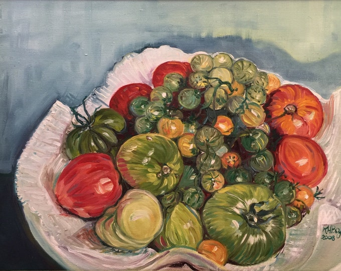 Homegrown Tomatoes Oil Painting