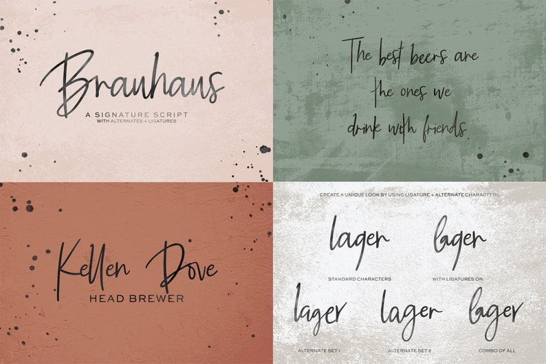 Download The Handwriting Font Bundle Cricut Fonts Cursive Font | Etsy