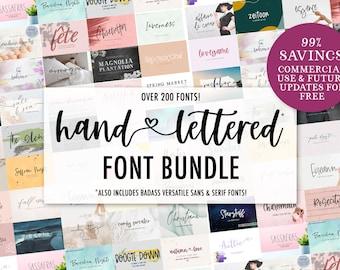Entire Shop Font Bundle - Rustic Font - Farmhouse Font - Calligraphy Font - Cursive Font - Cricut Font - Commercial Use Font - Design Space