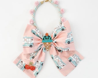 Posh Ice Cream Truck Bow Necklace | Bow Necklace | Big and Beautiful Bow
