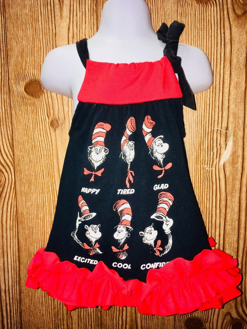 48c16e33 Cat in the Hat Tshirt Dr. Seuss Tshirt T-shirt Dress Cat in | Etsy