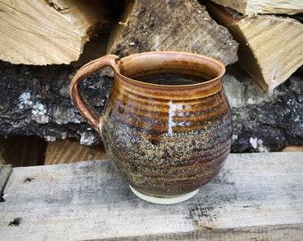 Pottery mug,pottery cup ,ceramic   Scottish sunset  stoneware