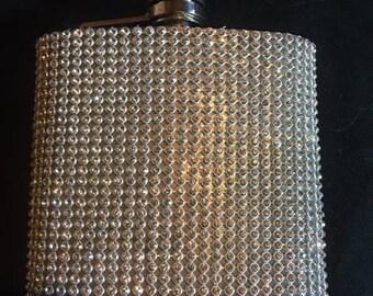 6 oz  Crystal Bling hip flask