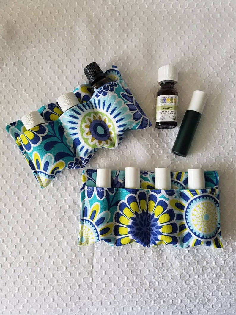 Made to Order Essential Oil Zip Pouch Insert Organizer Choose Your Fabric Travel Case Oil Case