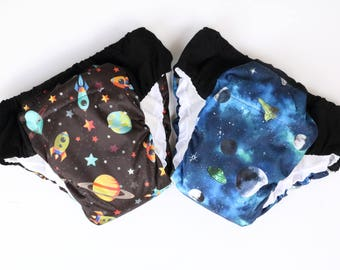 Set of 2 XXL Overnight Heavy Wetters potty training pants, ecofriendly pullup, waterproof, cloth pullups, incontinence, special needs,