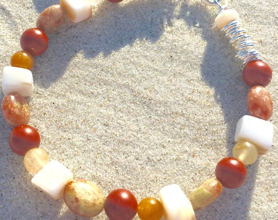 Shell and agate Beach bracelet