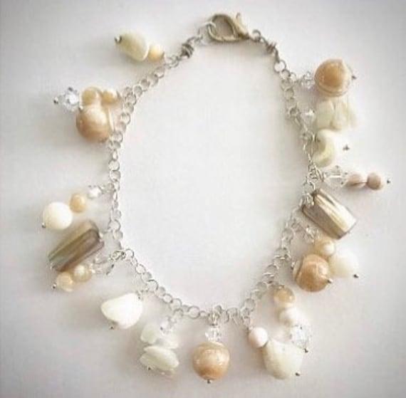 Shell Beaded Charm Bracelet