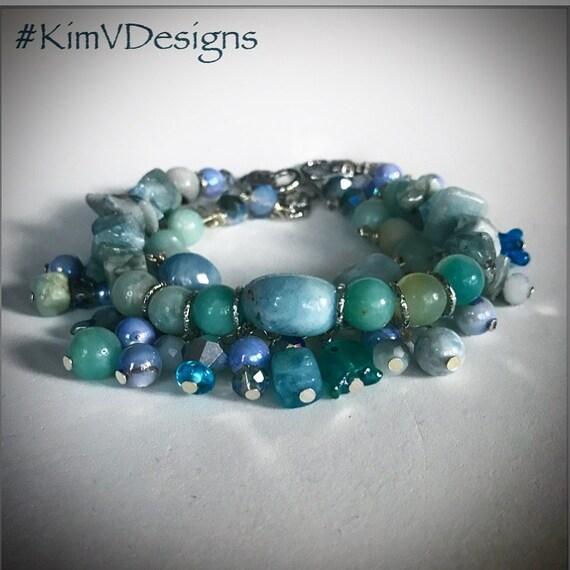 Ocean Blues stacked bracelet set