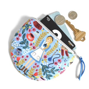Collection Small Purse  Coin Purse Free UK P/&P Rifle Paper Co. Navy Alice in Wonderland