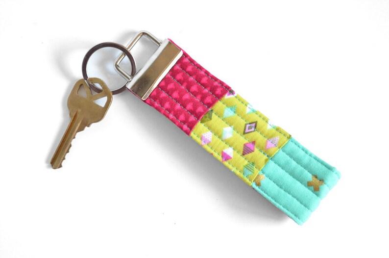 Womens Stocking Gift for Teacher Key Chain Wristlet Girls Key Chain Keyfob Pink Wrist Lanyard Small Gift for Her Unique Keychain Key Fob