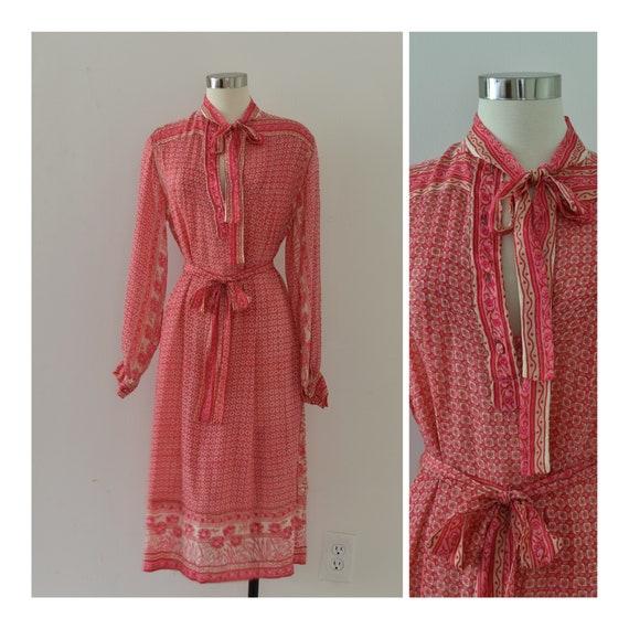 Vintage 1960s Raksha of Hindimp London Dress //  B