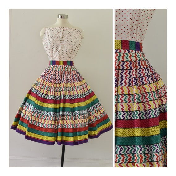 Vintage 1951 Circle Skirt by Madalyn Miller - Hand